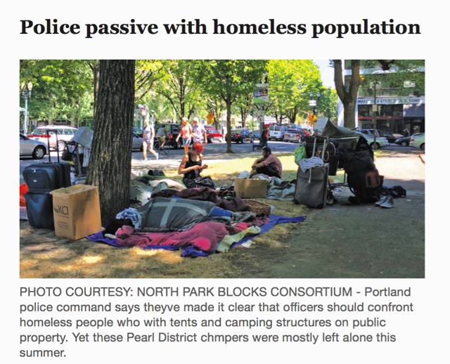Police passive with homeless population