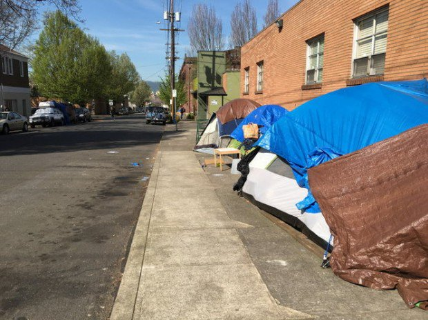 PDX street camping