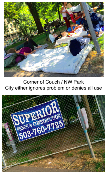 City either ignores problem or denies all use