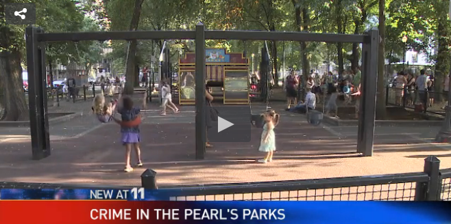Crime in Pearl's Parks