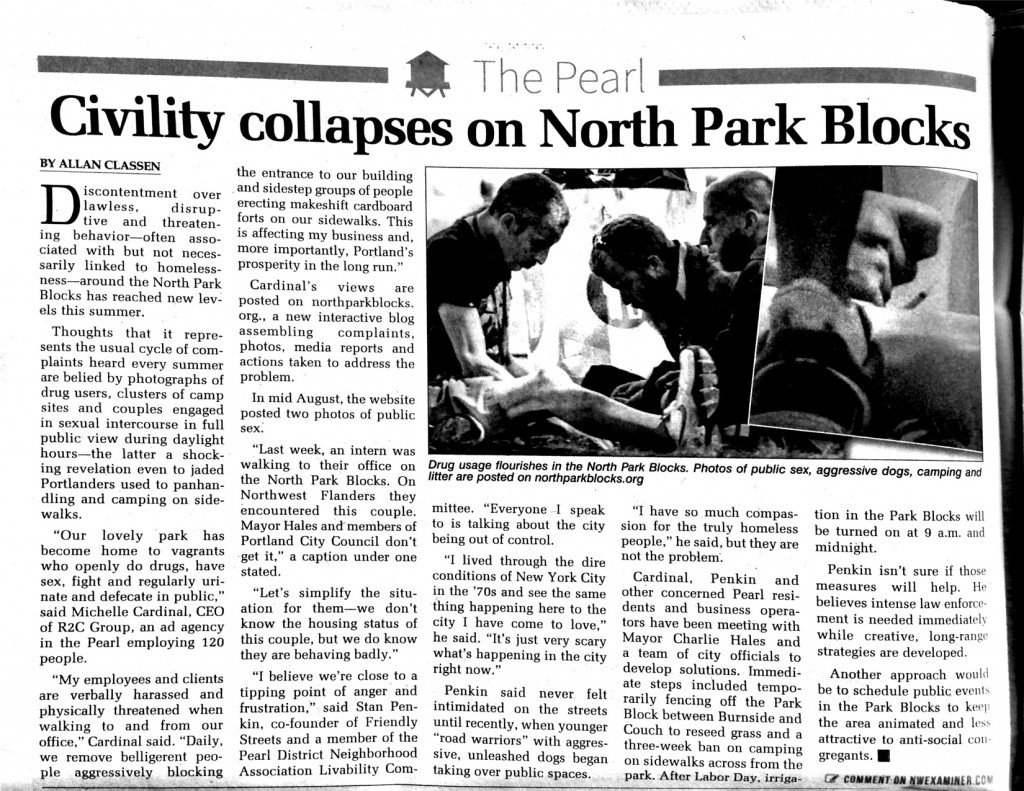 Civility collapses on North Park Blocks- Sept 2015