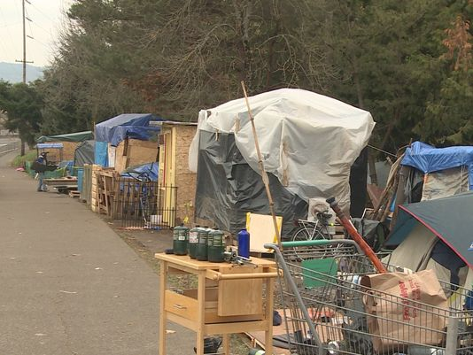 Hazelnut homeless camp pdx