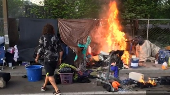 Portland firefighters called to homeless camps 79 times in two months