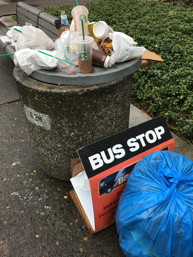 Without facilities, trash piles up on the street